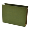 Three Inch Box Bottom Pressboard Hanging Folder, Letter, Standard Green, 25/Box