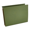 Universal Two Inch Box Bottom Pressboard Hanging Folder, Letter, Standard Green, 25/Box