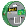 "Expressions Masking Tape, .94"" x 20yds, Green Striped Triangles"