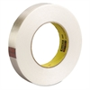 "High-Strength Filament Tape, Rubber, 18mm x 55m, 3"" Core, Clear"