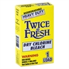 Twice as Fresh Heavy Duty Coin-Vend Powdered Chlorine Bleach, 1 load, 100/Carton