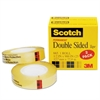 "Scotch 665 Double-Sided Tape, 1/2"" x 900"", 1"" Core, Clear, 2/Pack"
