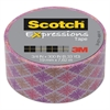 "Expressions Magic Tape, 3/4"" x 300"", Multicolor Starburst"
