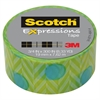 "Expressions Magic Tape, 3/4"" x 300"", Blue Green"