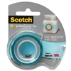"Scotch Expressions Magic Tape w/Dispenser, 3/4"" x 300"", Turquoise"