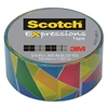 "Scotch Expressions Magic Tape, 3/4"" x 300"", Multicolor Stained Glass"