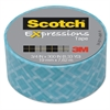 "Scotch Expressions Magic Tape, 3/4"" x 300"", Blue Classic Triangle"
