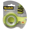 "Scotch Expressions Magic Tape w/Dispenser, 3/4"" x 300"", Lime Green"