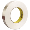 "High-Strength Filament Tape, Rubber, 24mm x 55m, 3"" Core, Clear"