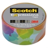 "Scotch Expressions Magic Tape, 3/4"" x 300"", Multicolor Watercolor"