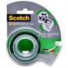 "Scotch Expressions Magic Tape w/Dispenser, 3/4"" x 300"", Green"