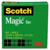 "Scotch Magic Tape, 3/4"" x 2592"", 3"" Core, Clear"