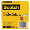 "665 Double-Sided Tape, 1/2"" x 1296"", 3"" Core, Transparent, 2/Pack"