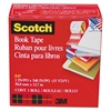 "Scotch Book Repair Tape, 2"" x 15yds, 3"" Core, Clear"