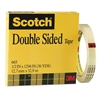"Scotch Double-Sided Tape, 1/2"" x 1296"", 3"" Core, Clear"
