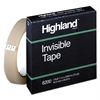 "Highland Invisible Permanent Mending Tape, 3/4"" x 2592"", 3"" Core, Clear"