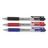 Economy Retractable Ballpoint Pen, Asst Ink, Clear Barrel, 1.0 mm Medium, 50/Set