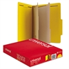 Universal Pressboard Classification Folders, Letter, Six-Section, Yellow, 10/Box
