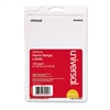 Universal Plain Self-Adhesive Name Badges, 3 1/2 x 2 1/4, White, 100/Pack