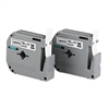 "Brother P-Touch M Series Tape Cartridges for P-Touch Labelers, 1/2""w, Black on White, 2/Pack"
