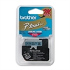 "Brother P-Touch M Series Tape Cartridge for P-Touch Labelers, 3/8""w, Black on Blue"