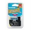 "P-Touch M Series Tape Cartridge for P-Touch Labelers, 1/2""w, Black on Blue"