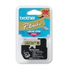 "Brother P-Touch M Series Tape Cartridge for P-Touch Labelers, 3/8""w, Black on Gold"