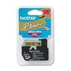 "Brother P-Touch M Series Tape Cartridge for P-Touch Labelers, 1/2""w, Black on Gold"