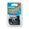 "Brother P-Touch M Series Tape Cartridge for P-Touch Labelers, 3/8""w, Black on Silver"