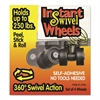 Master Caster Roll-Arounds Instant Swivel Wheels, Self-Adhesive, Black, 4/Set