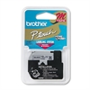 "Brother P-Touch M Series Tape Cartridge for P-Touch Labelers, 1/2""w, Black on Silver"