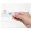 The Mighty Badge Name Badge Insert Sheets for Inkjet, 1 x 3, Clear, 20 per Sheet, 5 Sheets/Pack