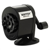 Bostitch Counter-Mount/Wall-Mount Antimicrobial Manual Pencil Sharpener, Black