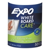 EXPO Dry-Erase Board-Cleaning Wet Wipes, 6 x 9, 50/Container