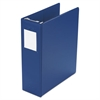 "Large Capacity Hanging Post Binder, 3"" Cap, Blue"