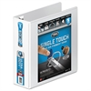 "Wilson Jones Ultra Duty D-Ring View Binder w/Extra-Durable Hinge, 3"" Cap, White"