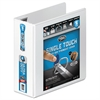 "Ultra Duty D-Ring View Binder w/Extra-Durable Hinge, 4"" Cap, White"