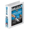 "Ultra Duty D-Ring View Binder w/Extra-Durable Hinge, 2"" Cap, White"