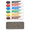 Dry Erase Marker Organizer, Chisel Tip, Assorted, 6/Set