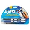 Magnetic Clip Eraser w/2 Markers, Fine, Black/Blue, 1 Set