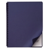 Linen Textured Binding System Covers, 11-1/4 x 8-3/4, Navy, 200/Box