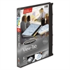 "View-Tab Presentation Round Ring View Binder w/Tabs, 5/8"" Cap, Black"