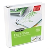 "Oversized D-Ring View Binder, 3"" Cap, White"