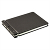 "Wilson Jones Raven Vinyl-Guarded Post Binder, 2"" Cap, 9 1/4 x 11 7/8, Black"
