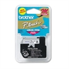 "Brother P-Touch M Series Tape Cartridge for P-Touch Labelers, 1/2""w, Blue on White"