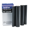 Brother PC202RF Thermal Transfer Refill Roll, Black, 2/PK