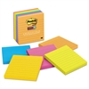 Post-it Pads in Rio de Janeiro Colors, Lined, 4 x 4, 90-Sheet, 6/Pack