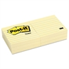 Post-it Original Pads in Canary Yellow, 3 x 3, Lined, 100-Sheet, 6/Pack