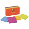 Post-it Pads in Marrakesh Colors, 3 x 3, 90-Sheet, 12/Pack
