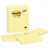Post-it Original Pads in Canary Yellow, 3 x 5, 100-Sheet, 12/Pack